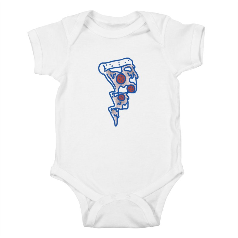 Pop Pizza flash Kids Baby Bodysuit by micheleficeli's Artist Shop