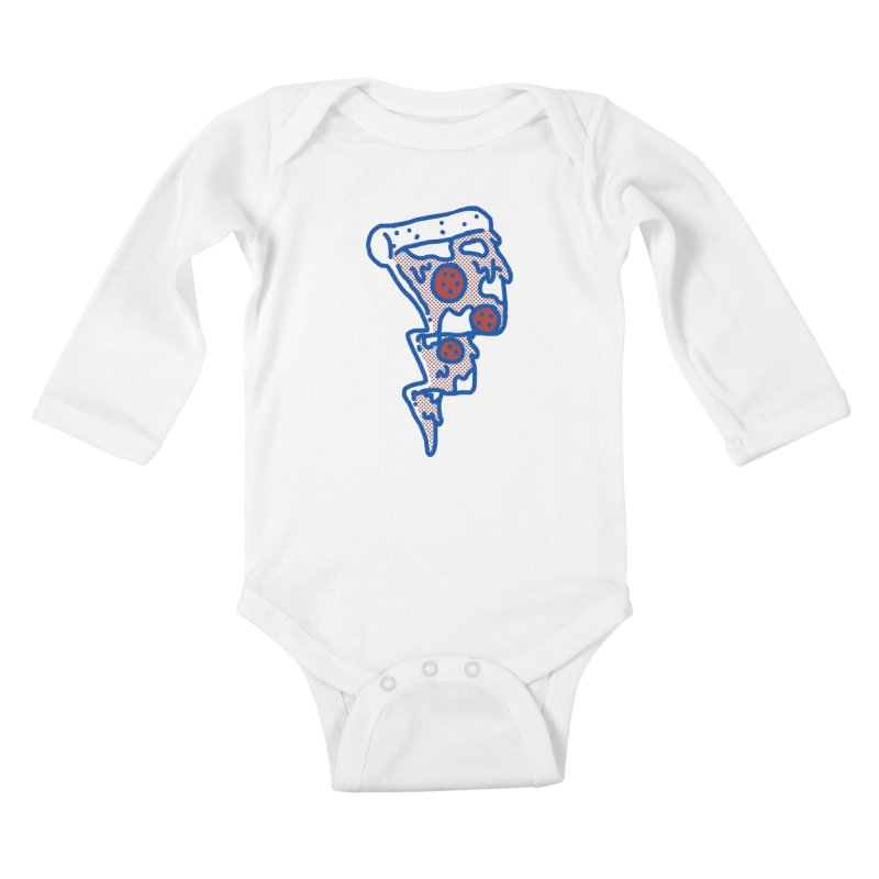 Pop Pizza flash Kids Baby Longsleeve Bodysuit by micheleficeli's Artist Shop