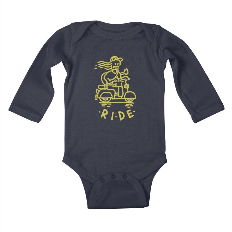 Ride Kids Baby Longsleeve Bodysuit by micheleficeli's Artist Shop