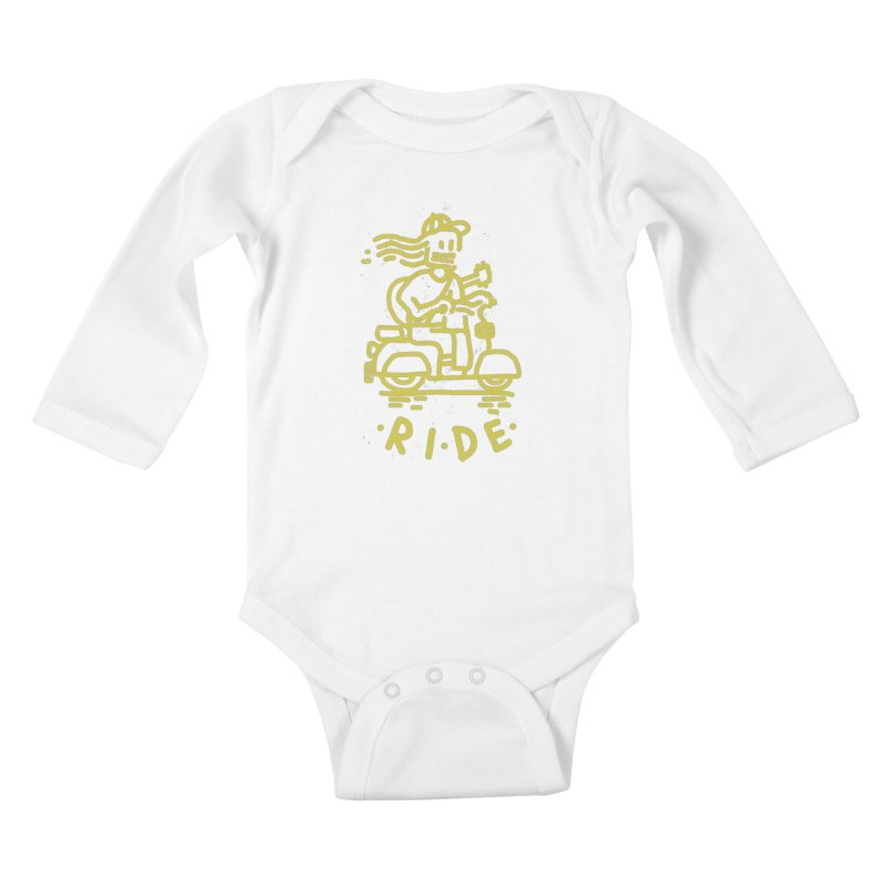 Ride Kids Baby Longsleeve Bodysuit by micheleficeli's Artist Shop