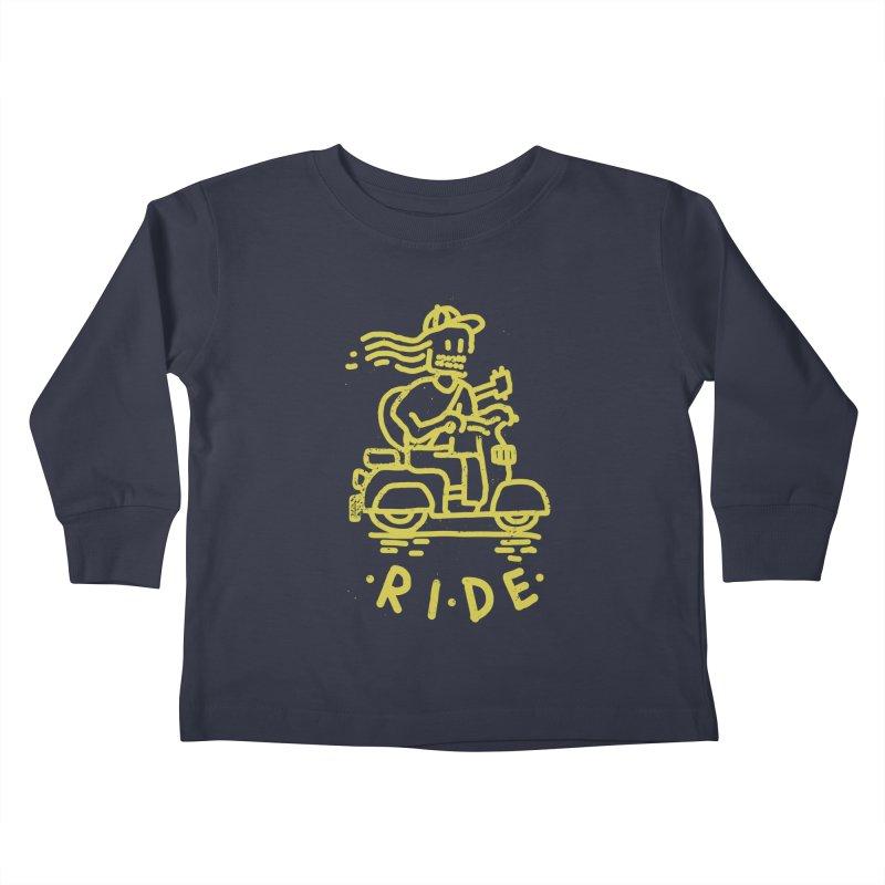 Ride Kids Toddler Longsleeve T-Shirt by micheleficeli's Artist Shop
