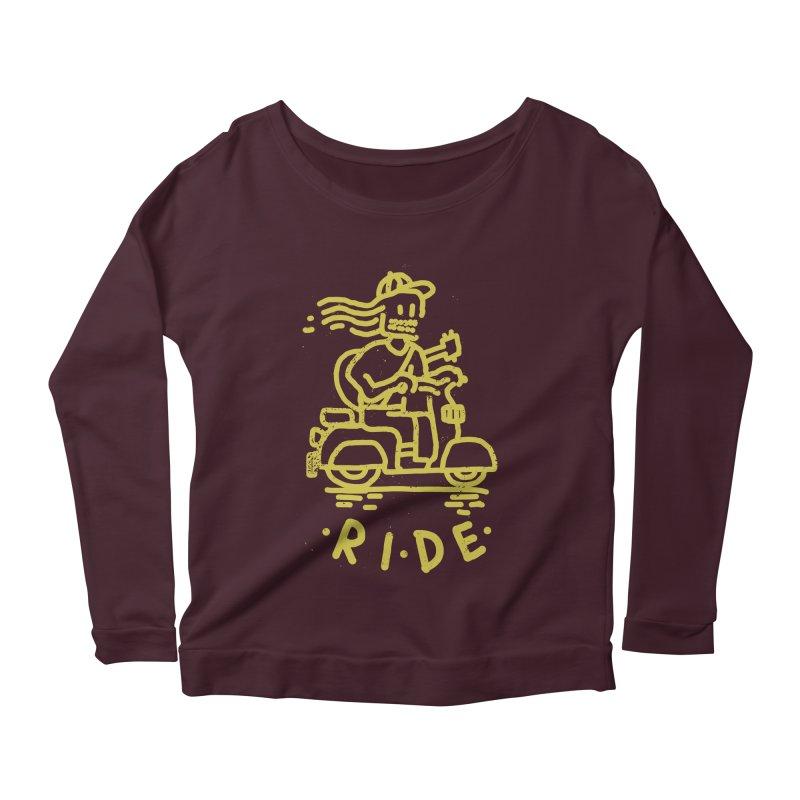 Ride Women's Longsleeve Scoopneck  by micheleficeli's Artist Shop