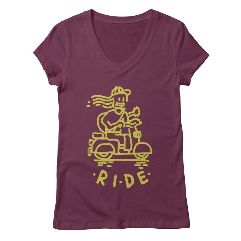 Ride Women's V-Neck by micheleficeli's Artist Shop