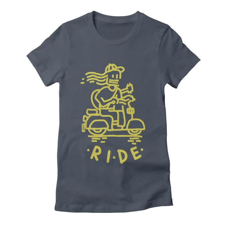 Ride Women's Fitted T-Shirt by micheleficeli's Artist Shop