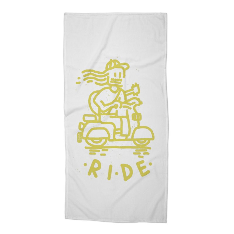 Ride Accessories Beach Towel by micheleficeli's Artist Shop
