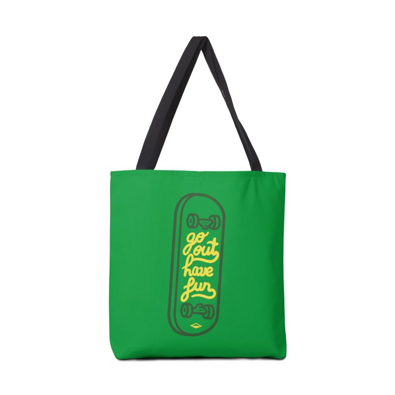 Go out, have fun (green version)  Accessories Bag by micheleficeli's Artist Shop