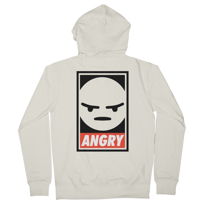 Angry Reacts Only Men's Zip-Up Hoody by michelerota's Artist Shop