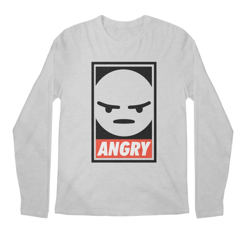Angry Reacts Only Men's Longsleeve T-Shirt by michelerota's Artist Shop