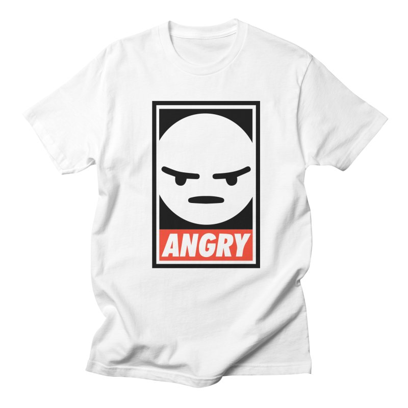 Angry Reacts Only Men's T-shirt by michelerota's Artist Shop