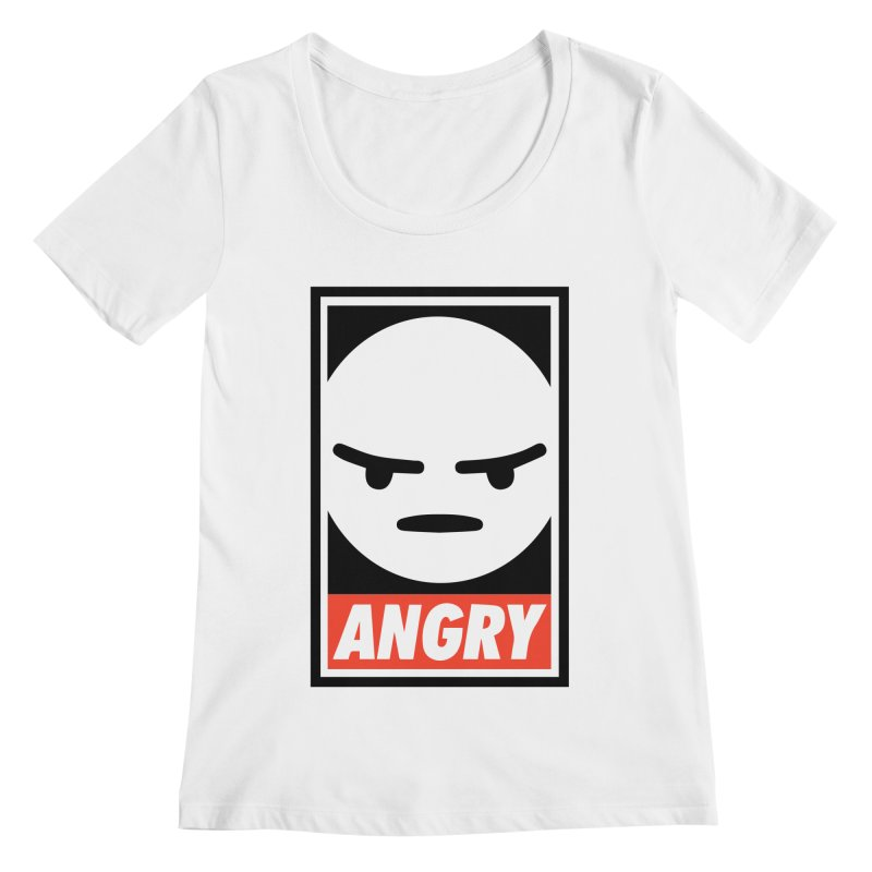 Angry Reacts Only Women's Scoopneck by michelerota's Artist Shop