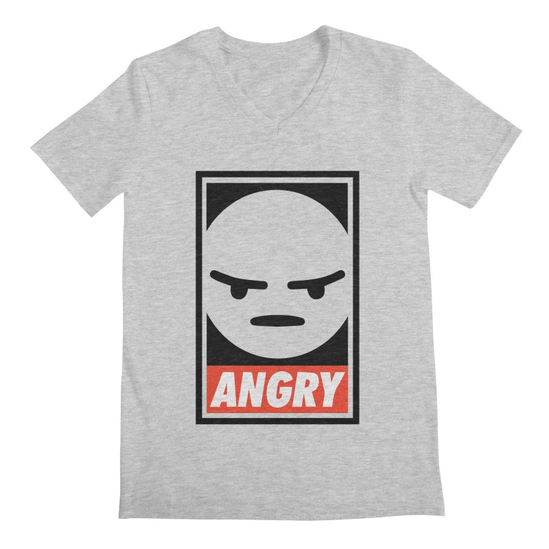 Angry Reacts Only Men's V-Neck by michelerota's Artist Shop