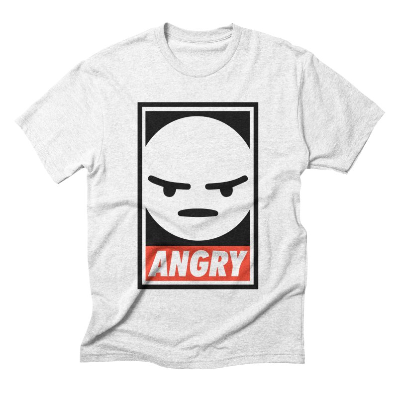 Angry Reacts Only Men's Triblend T-shirt by michelerota's Artist Shop