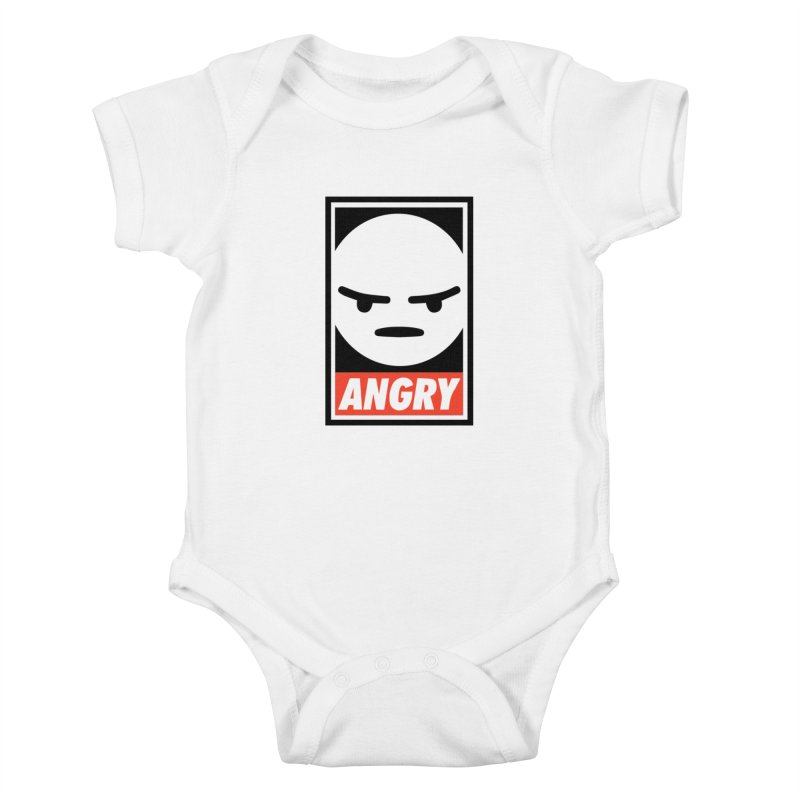 Angry Reacts Only Kids Baby Bodysuit by michelerota's Artist Shop