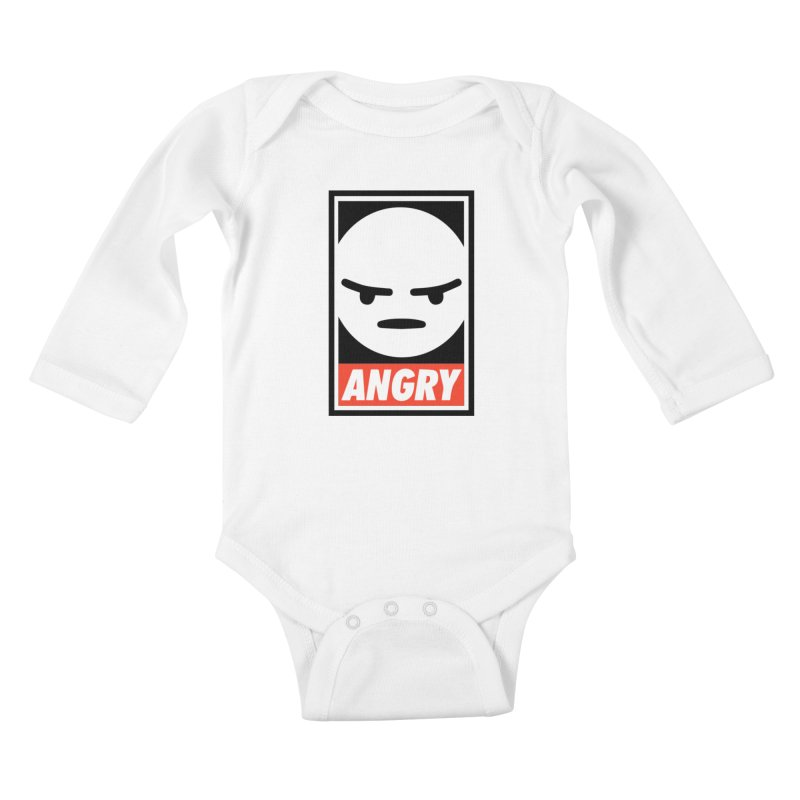 Angry Reacts Only Kids Baby Longsleeve Bodysuit by michelerota's Artist Shop
