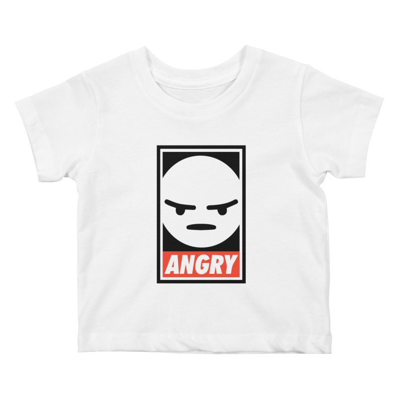 Angry Reacts Only Kids Baby T-Shirt by michelerota's Artist Shop