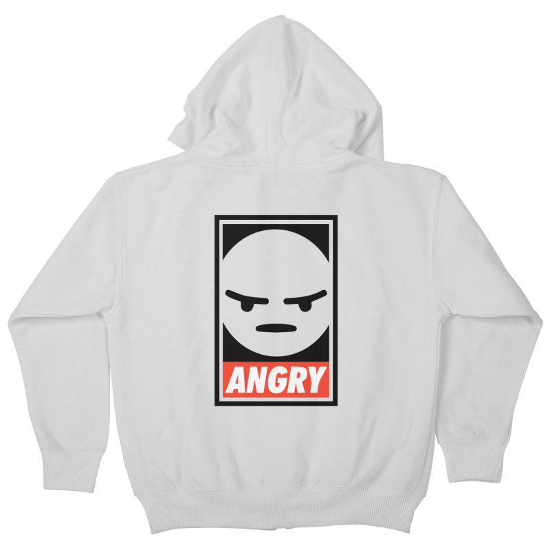 Angry Reacts Only Kids Zip-Up Hoody by michelerota's Artist Shop