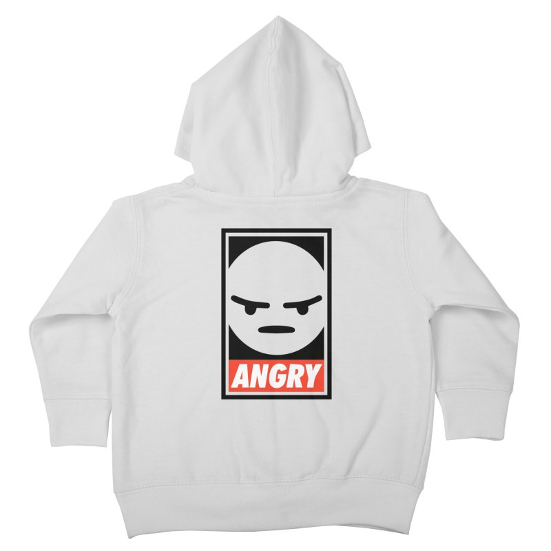 Angry Reacts Only Kids Toddler Zip-Up Hoody by michelerota's Artist Shop