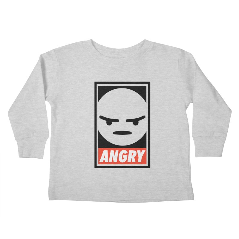 Angry Reacts Only Kids Toddler Longsleeve T-Shirt by michelerota's Artist Shop