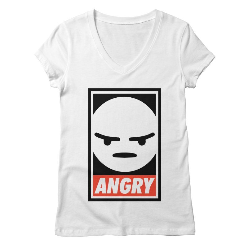 Angry Reacts Only Women's V-Neck by michelerota's Artist Shop