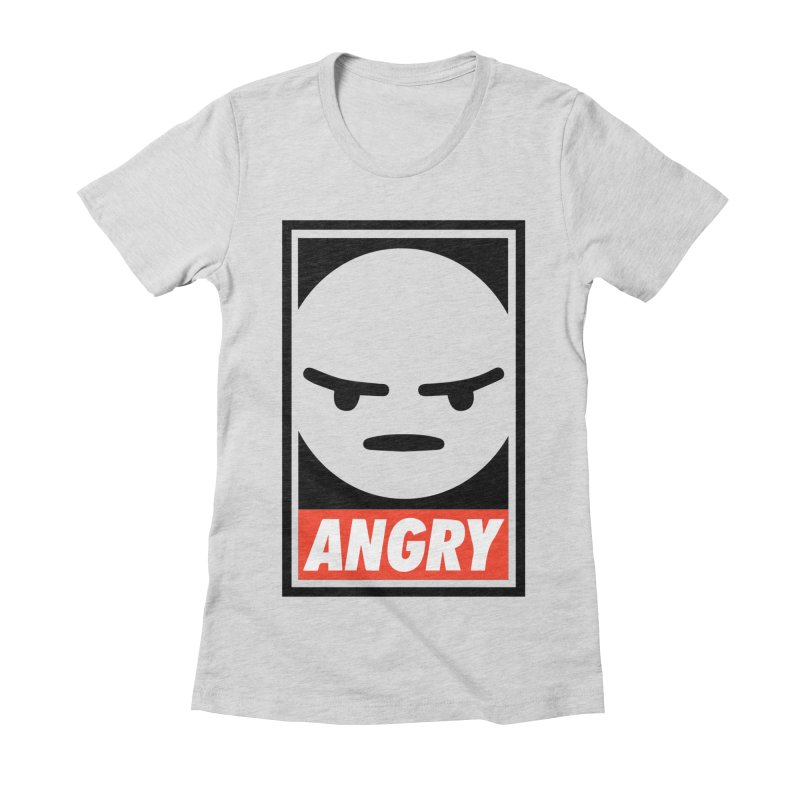 Angry Reacts Only Women's Fitted T-Shirt by michelerota's Artist Shop