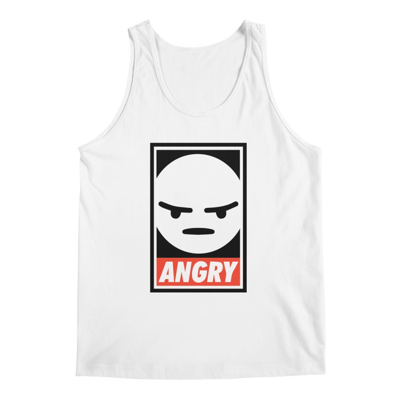 Angry Reacts Only Men's Tank by michelerota's Artist Shop