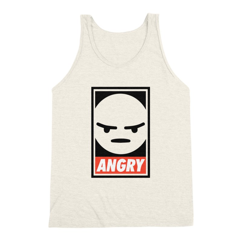 Angry Reacts Only Men's Triblend Tank by michelerota's Artist Shop