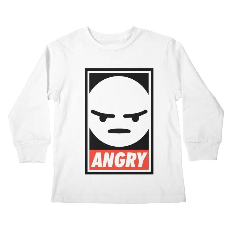 Angry Reacts Only Kids Longsleeve T-Shirt by michelerota's Artist Shop