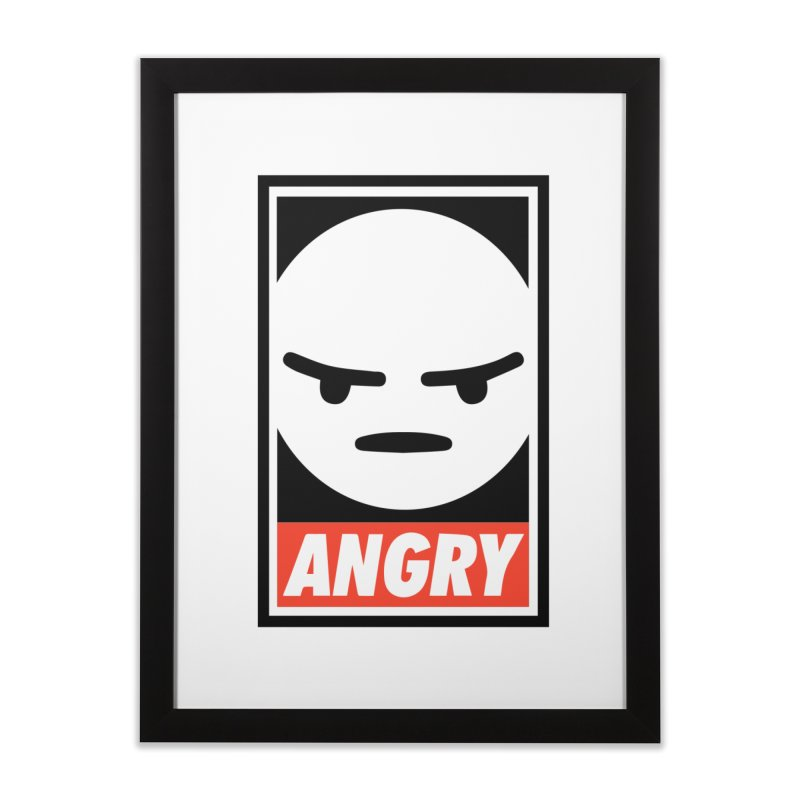 Angry Reacts Only Home Framed Fine Art Print by michelerota's Artist Shop