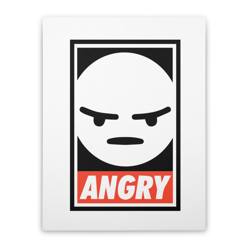 Angry Reacts Only Home Stretched Canvas by michelerota's Artist Shop