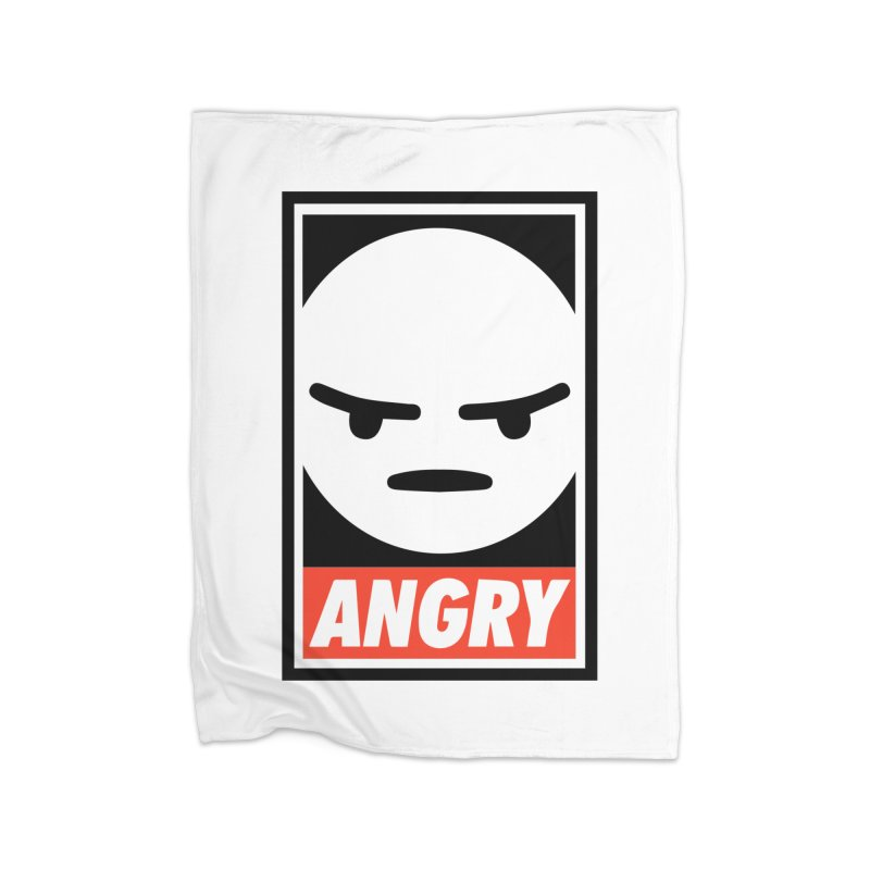 Angry Reacts Only Home Blanket by michelerota's Artist Shop