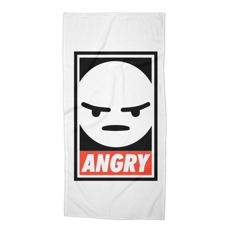 Angry Reacts Only Accessories Beach Towel by michelerota's Artist Shop