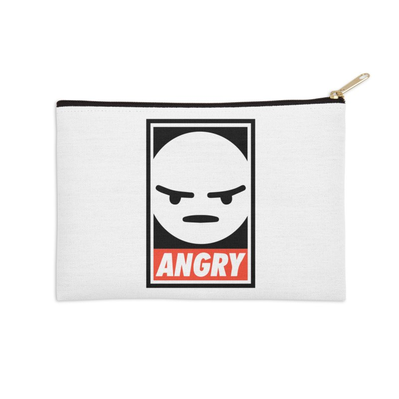 Angry Reacts Only Accessories Zip Pouch by michelerota's Artist Shop