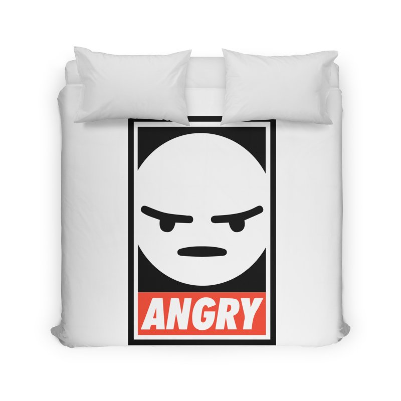 Angry Reacts Only Home Duvet by michelerota's Artist Shop