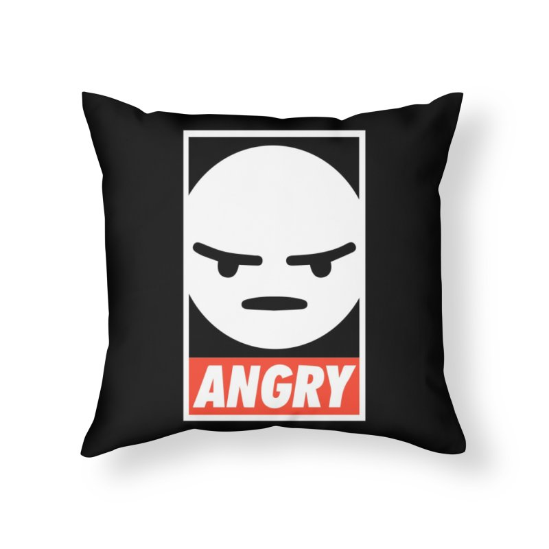 Angry Reacts Only Home Throw Pillow by michelerota's Artist Shop