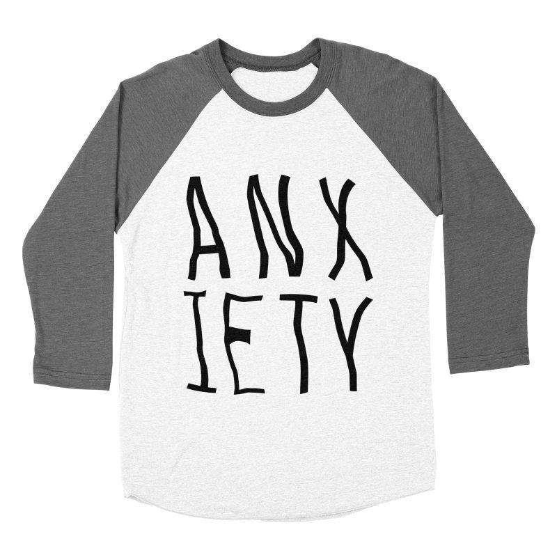 Anxiety Women's Baseball Triblend T-Shirt by michelerota's Artist Shop