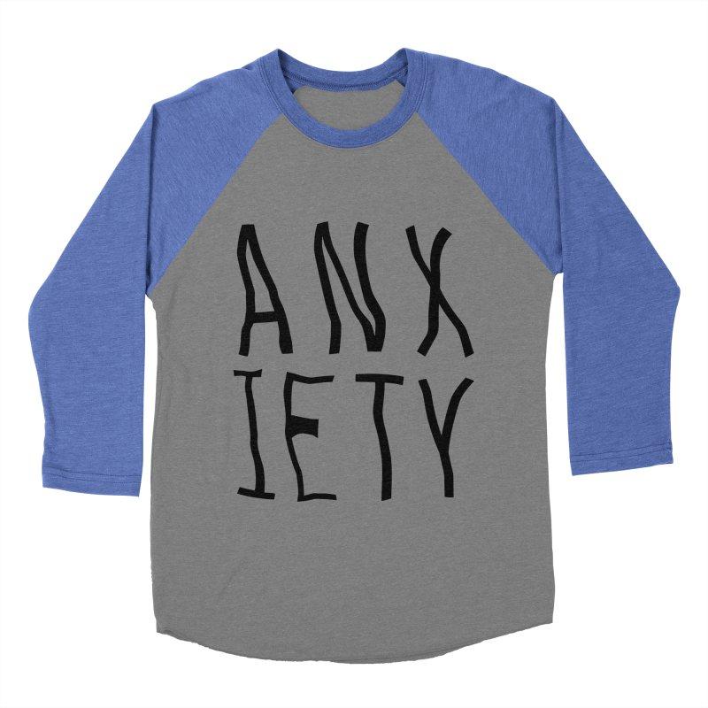 Anxiety Men's Baseball Triblend T-Shirt by michelerota's Artist Shop