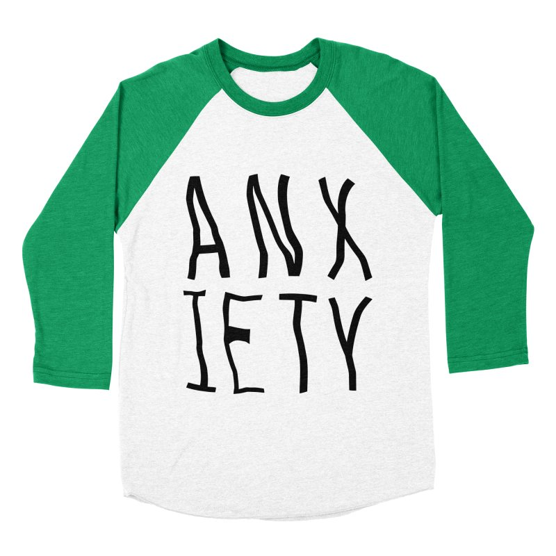 Anxiety Men's Baseball Triblend T-Shirt by michelerota's Artist Shop