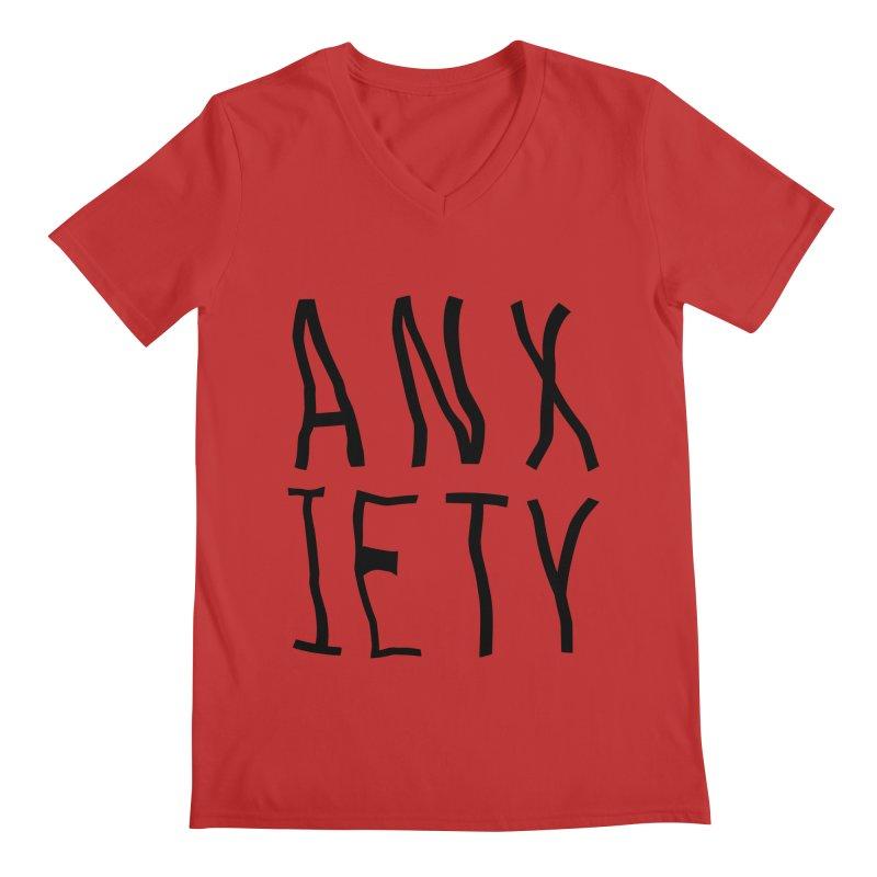 Anxiety Men's V-Neck by michelerota's Artist Shop