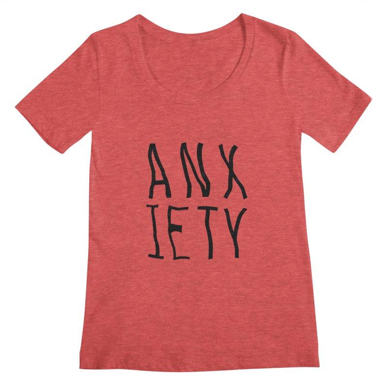 Anxiety Women's Scoopneck by michelerota's Artist Shop