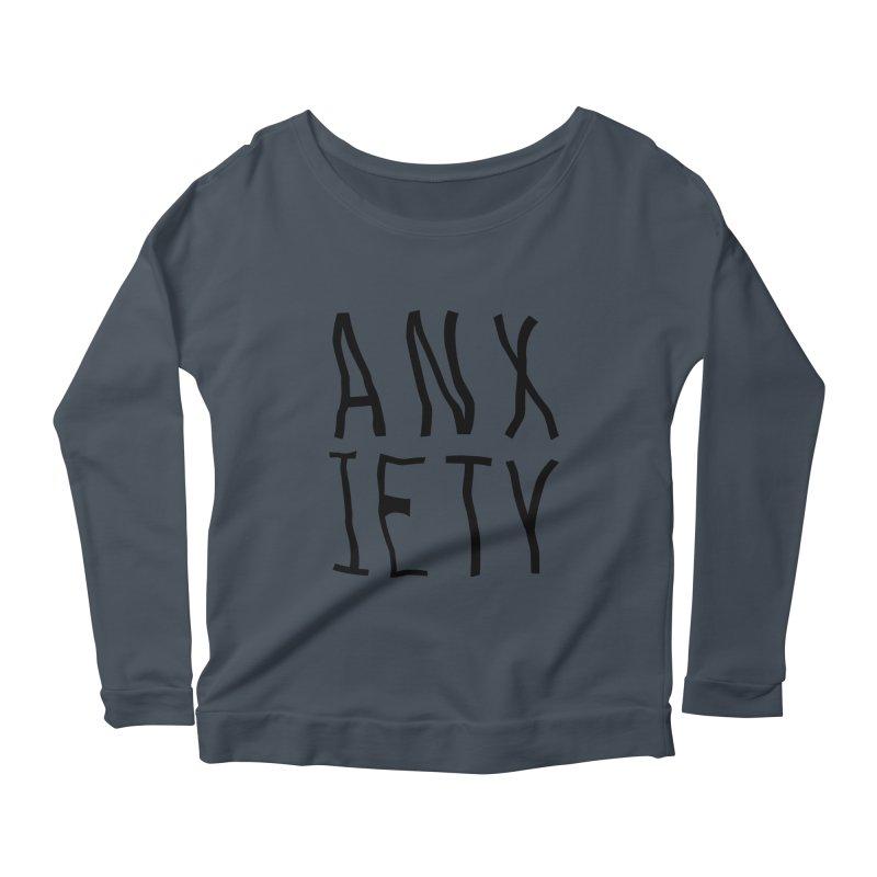 Anxiety Women's Longsleeve Scoopneck  by michelerota's Artist Shop
