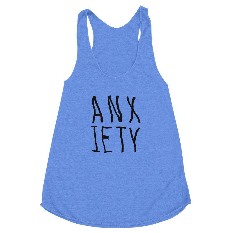 Anxiety Women's Racerback Triblend Tank by michelerota's Artist Shop