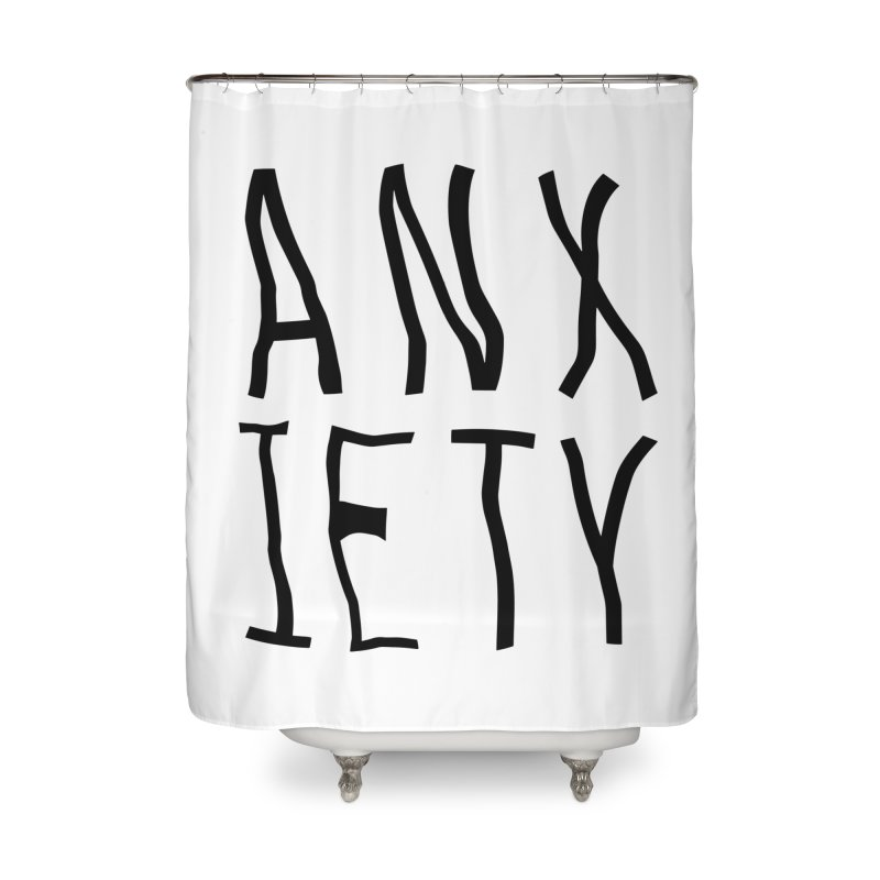 Anxiety Home Shower Curtain by michelerota's Artist Shop