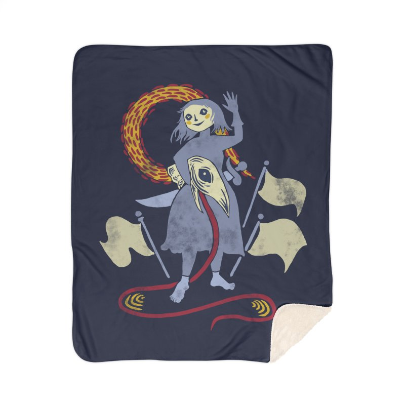 The Girl, Victorious Home Blanket by Michelle Duckworth's Artist Shop
