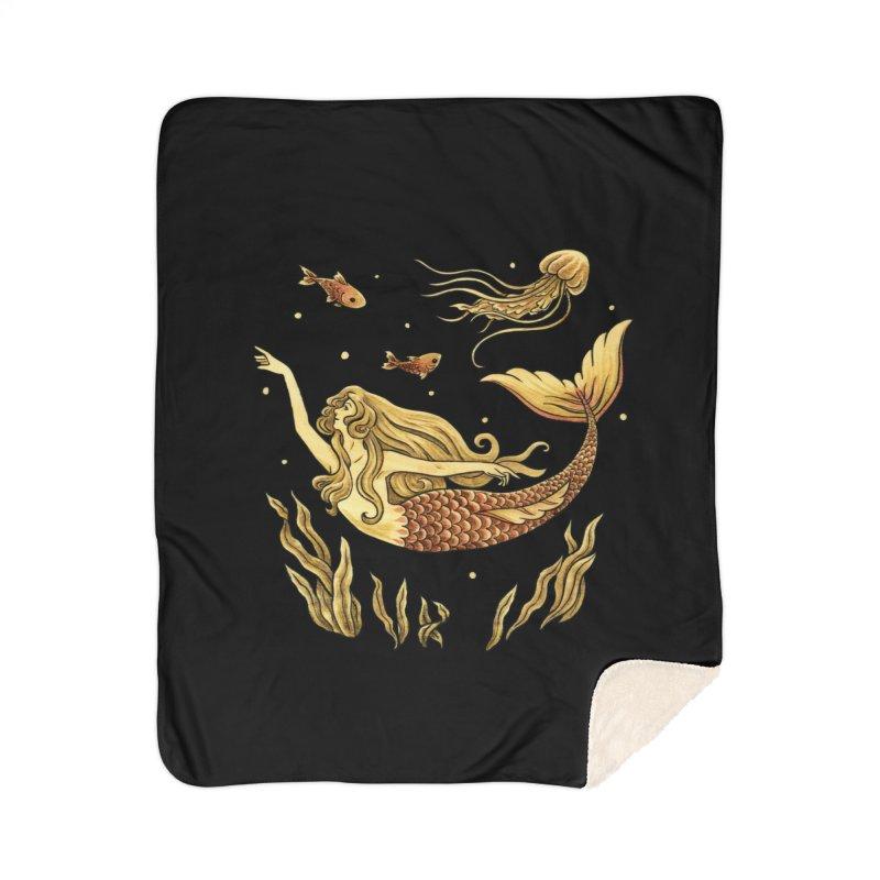 Under the Waves Home Blanket by Michelle Duckworth's Artist Shop