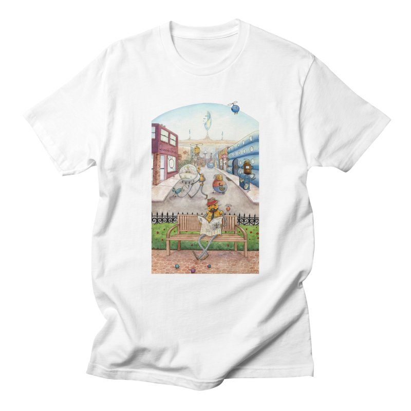Robot City Men's T-Shirt by michellemiller's Artist Shop