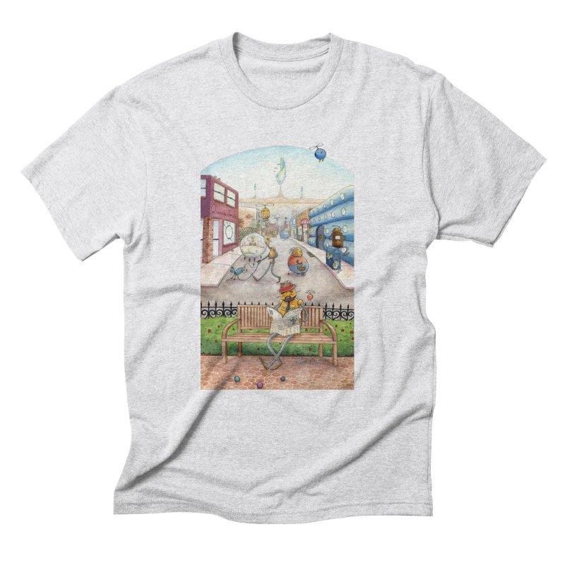 Robot City Men's Triblend T-Shirt by michellemiller's Artist Shop