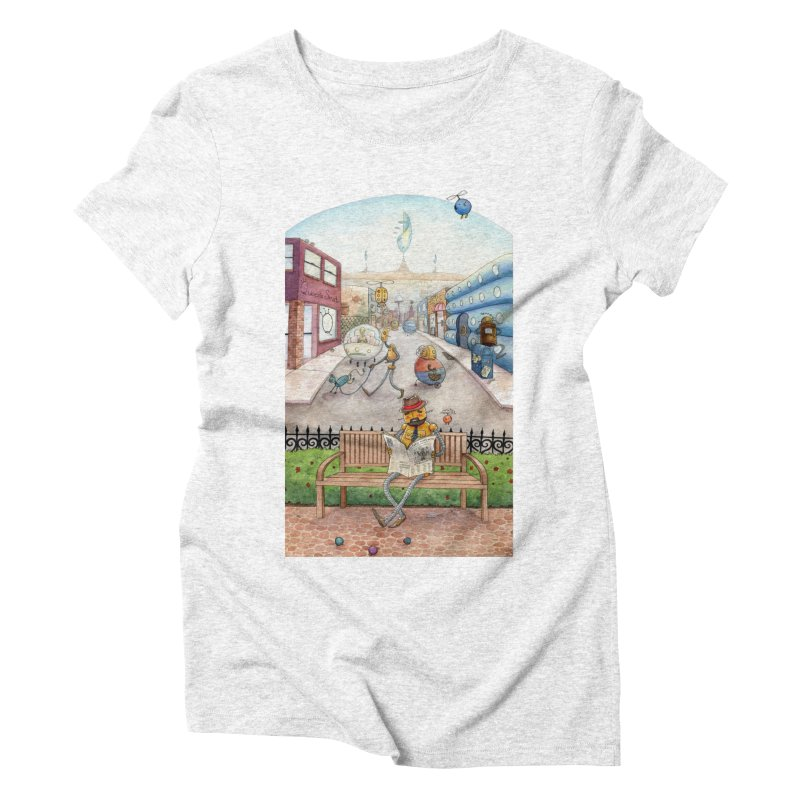 Robot City Women's Triblend T-shirt by michellemiller's Artist Shop