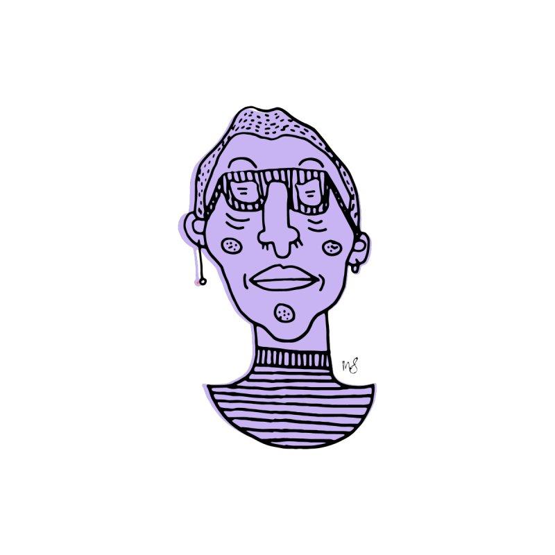 Purple Portrait Apparel Men's Longsleeve T-Shirt by Michelle Silva Artistry