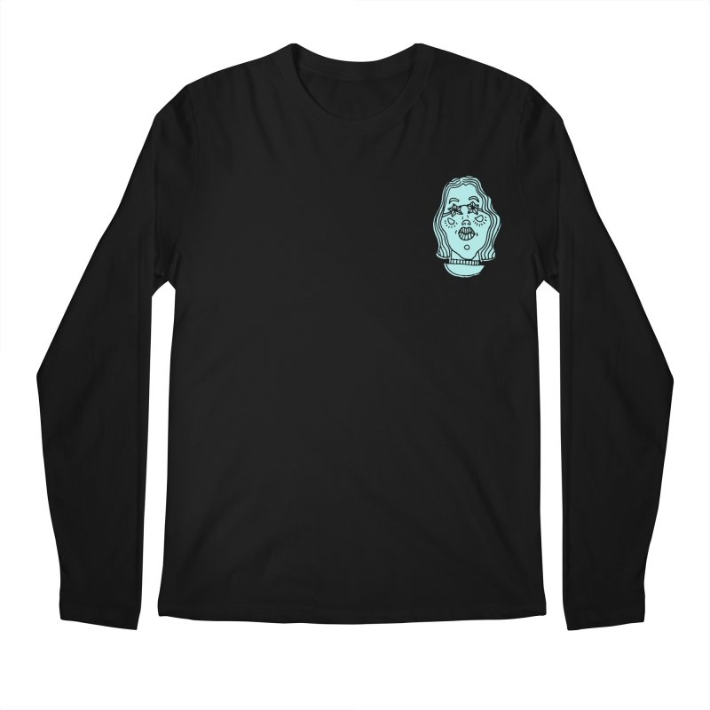 Blue Portrait Apparel Men's Longsleeve T-Shirt by Michelle Silva Artistry