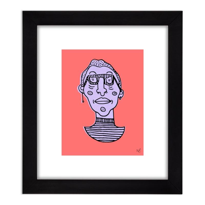 Purple Portrait Print Home Framed Fine Art Print by Michelle Silva Artistry